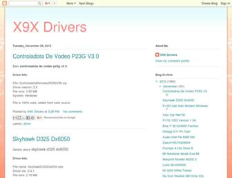 x9x-drivers.blogspot.com screenshot