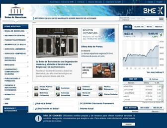 Main page screenshot of borsabcn.es