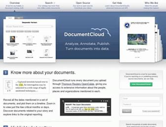 documentcloud.org screenshot