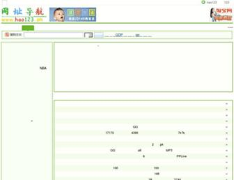 Main page screenshot of hao123.ph