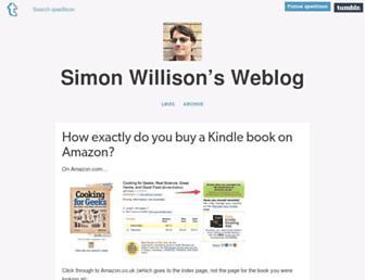 Main page screenshot of simonwillison.net