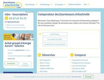 fournisseurs-electricite.com screenshot