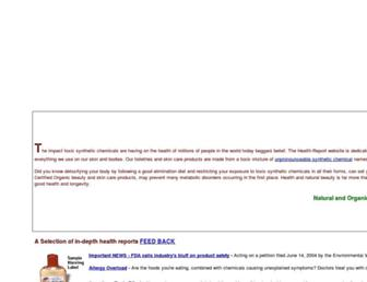 Main page screenshot of health-report.co.uk