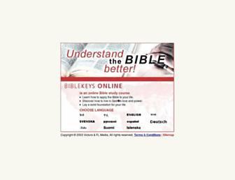 biblekeys.org screenshot