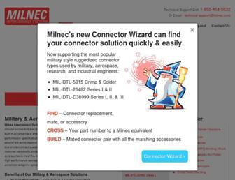 milnec.com screenshot