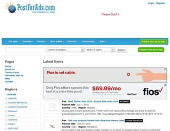 Thumbshot of Postforads.com