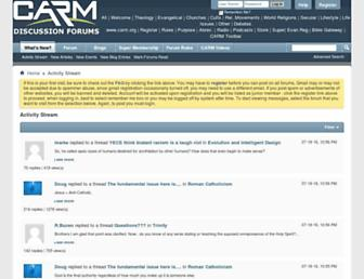 Main page screenshot of forums.carm.org