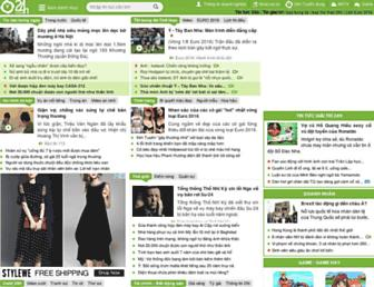 Main page screenshot of 24h.com.vn
