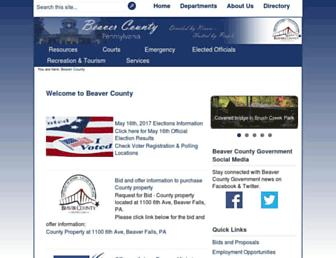 beavercountypa.gov screenshot