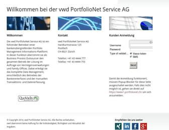 Main page screenshot of pcsag.ch
