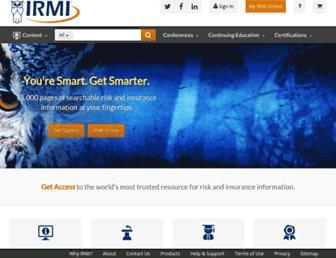 irmi.com screenshot