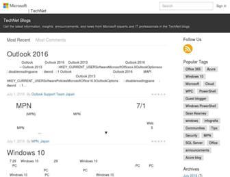 blogs.technet.microsoft.com screenshot