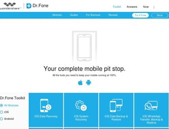 drfone.wondershare.com screenshot