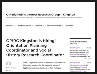 opirgkingston.org screenshot