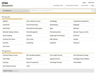 discussions.citrix.com screenshot