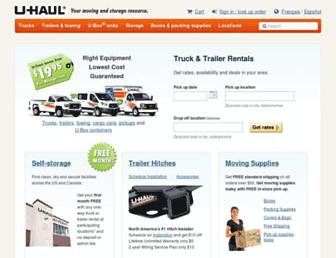 uhaul.com screenshot