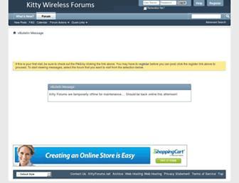Screenshot for kittyforums.net