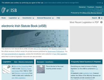 irishstatutebook.ie screenshot