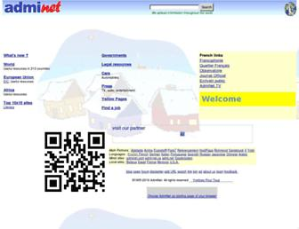 Main page screenshot of admi.net
