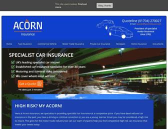 acorninsure.co.uk screenshot