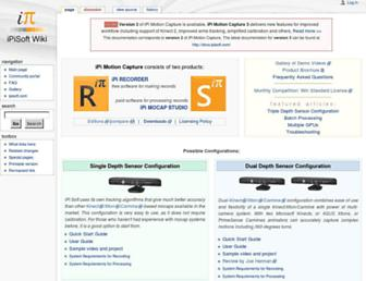 wiki.ipisoft.com screenshot