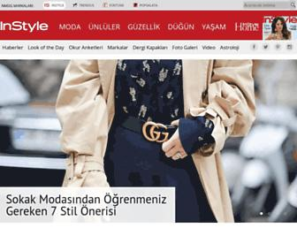 Main page screenshot of instyle.com.tr