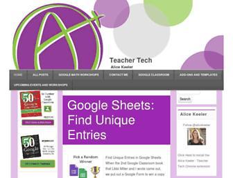 alicekeeler.com screenshot