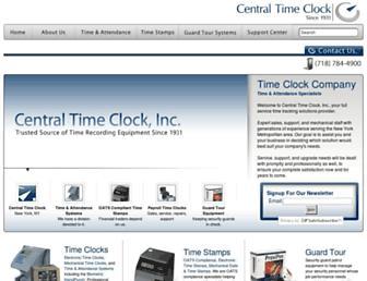centraltimeclock.com screenshot