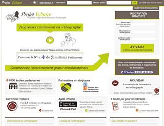 projet-voltaire.fr screenshot