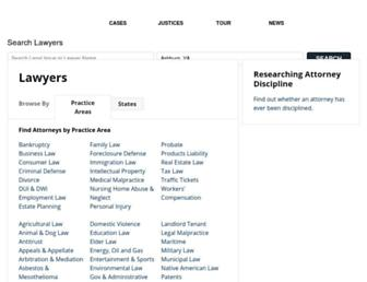 Main page screenshot of lawyers.oyez.org