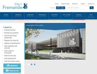 fremantle.wa.gov.au screenshot