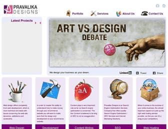 Thumbshot of Pravalikadesigns.com