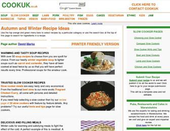 Main page screenshot of cookuk.co.uk