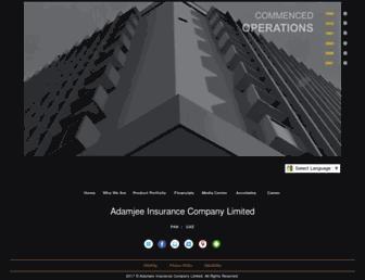 adamjeeinsurance.com screenshot