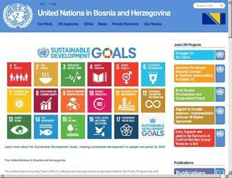 Main page screenshot of un.ba