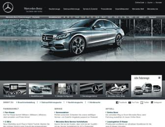 Main page screenshot of mercedes-benz.de