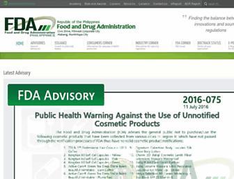 Thumbshot of Fda.gov.ph