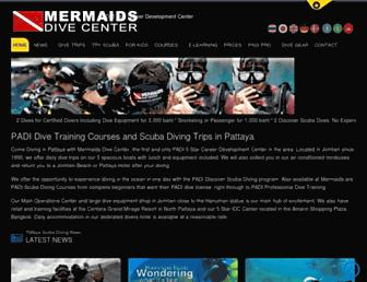 mermaidsdivecenter.com screenshot