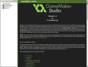docs.yoyogames.com screenshot