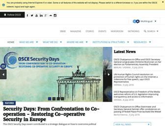 osce.org screenshot