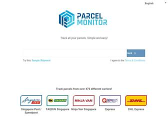parcelmonitor.com screenshot