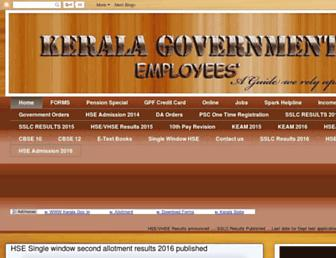 keralagovernment-homepage.blogspot.com screenshot