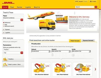 dhl.de screenshot