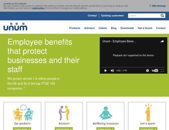 unum.co.uk screenshot