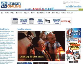 utusan.com.my screenshot