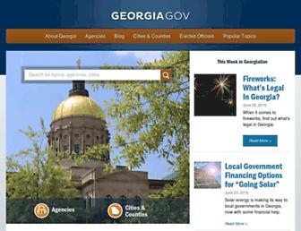 Main page screenshot of georgia.gov