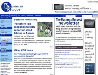 Main page screenshot of businessrespect.net