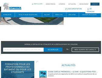 soprema.fr screenshot