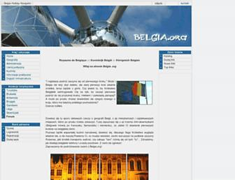 Main page screenshot of belgia.org