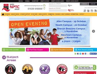nptcgroup.ac.uk screenshot